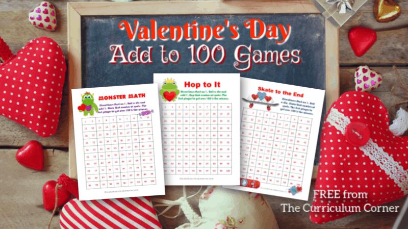 Valentine's Day Add to 100 Games