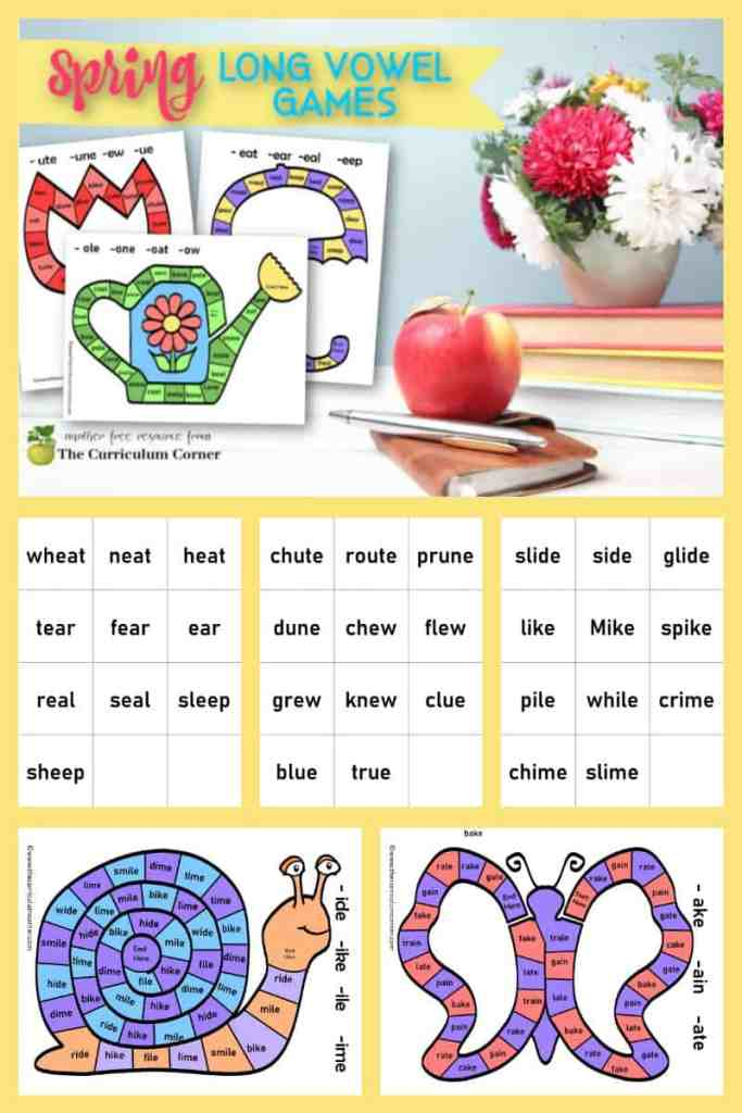 spring long vowel board games