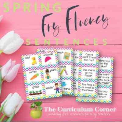 Spring Fry Fluency Sentences