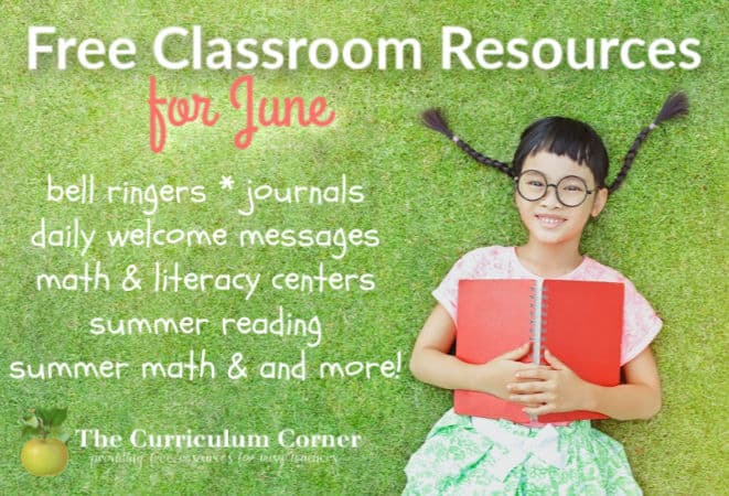June Resources for teachers