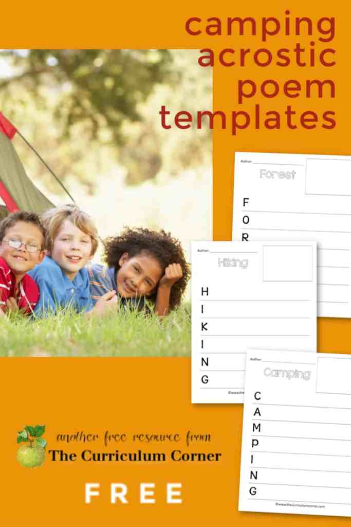 camping acrostic poems