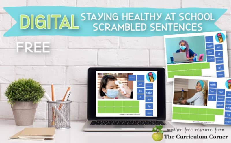 These free staying healthy at school scrambled sentences are a new literacy center for computer and tablet use.