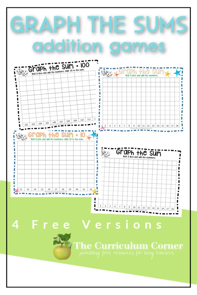 These free Graph the Sum addition games are a fun way to get your students extra computation practice.