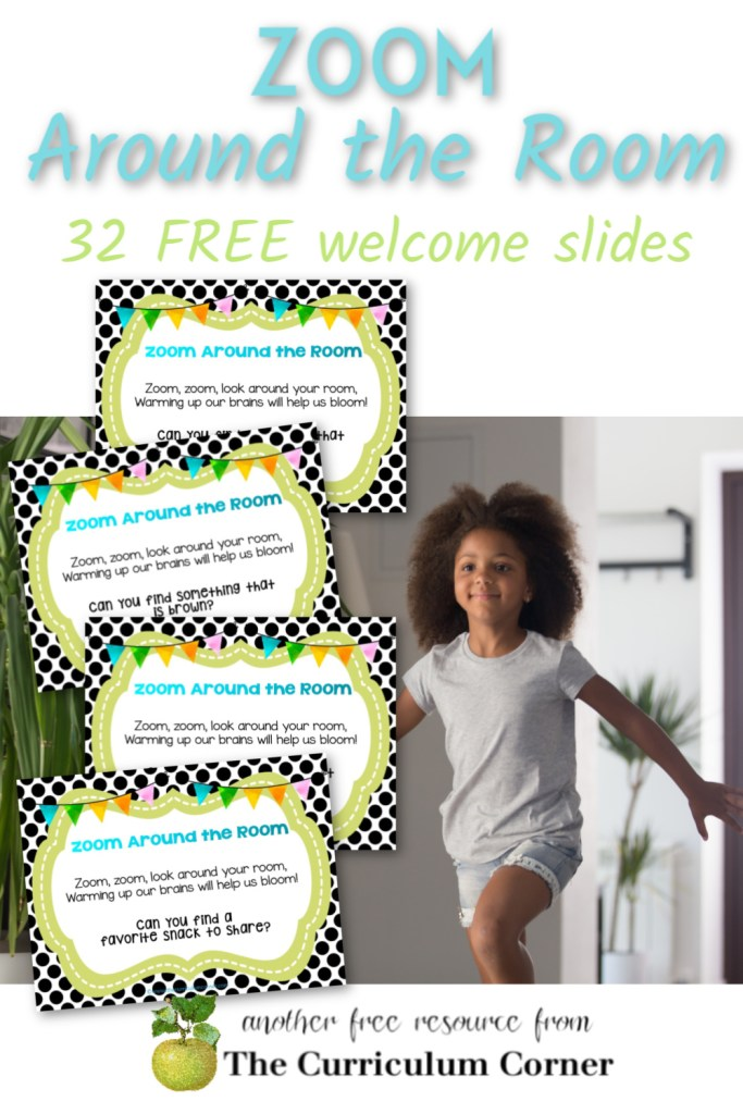 These Zoom Around the Room Welcome Slides will give you a fun way to engage your students as your class meetings begin.
