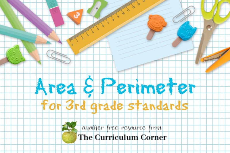 If you are working to address area & perimeter in your third grade classroom, start with this free collection.