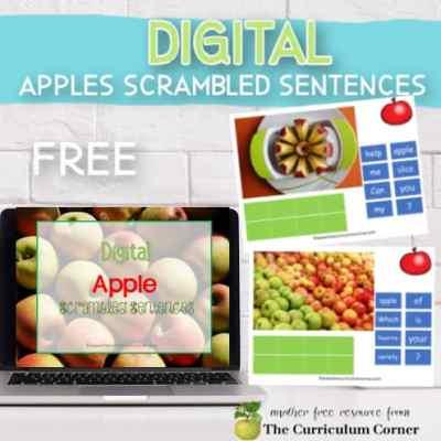 Digital Apple Scrambled Sentences