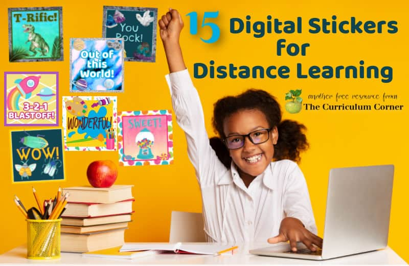 These free digital stickers for distance learning have been created to help you as you head back to school virtually.