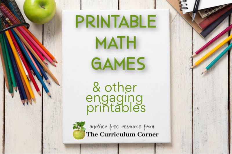 Here you will find a large collection of free, printable math games for student learning.