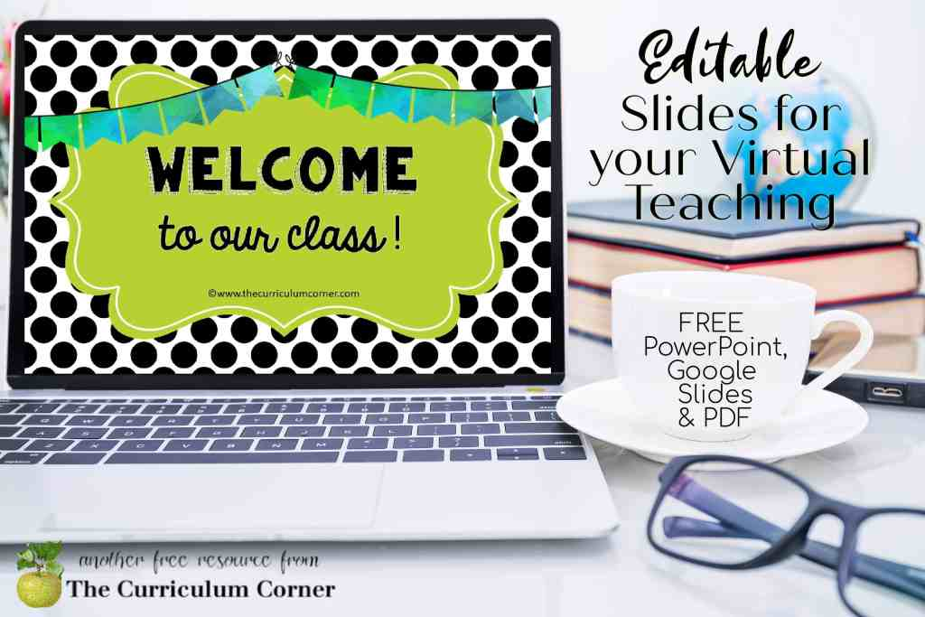 These virtual teaching slides will help you get your distance learning started each morning.