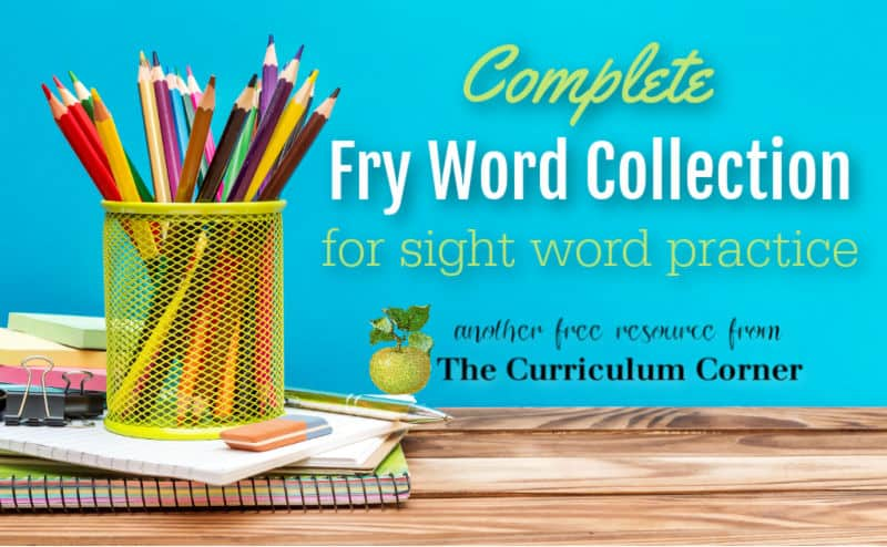 This complete free Fry Word collection will provide teachers with assessment and practice printables for sight word instruction.