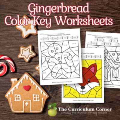 Gingerbread Color Key (Addition & Subtraction)