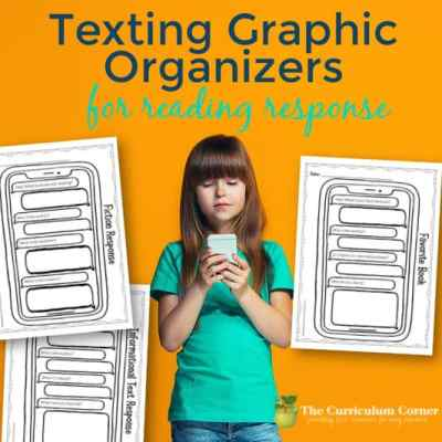 Texting Graphic Organizers for Reading Response