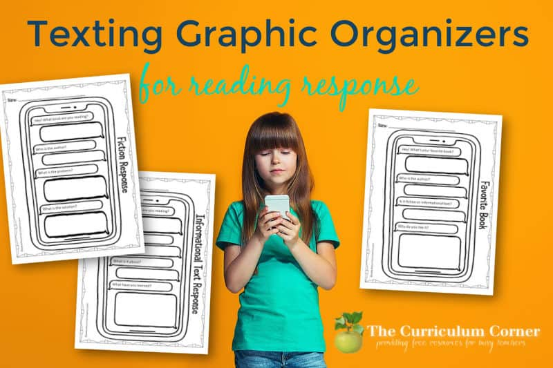 These texting graphic organizers for reading response will give your students a new format for responding to their reading.