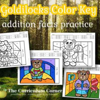 Goldilocks Color Key Addition Pages