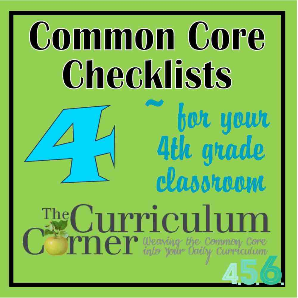 medium resolution of 4th Grade Common Core Checklists - The Curriculum Corner 4-5-6