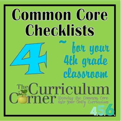 small resolution of 4th Grade Common Core Checklists - The Curriculum Corner 4-5-6