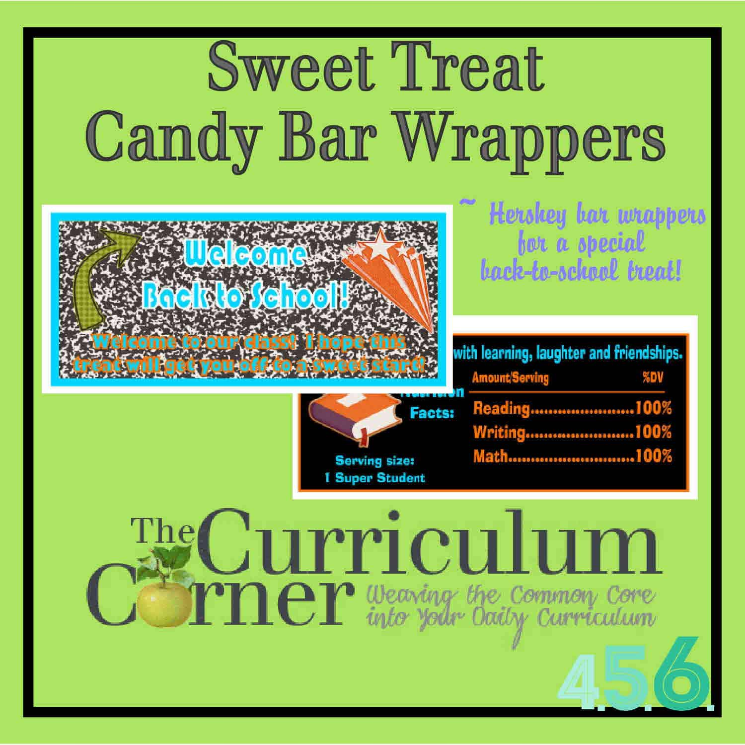 Hershey Bar Wrappers For Back To School