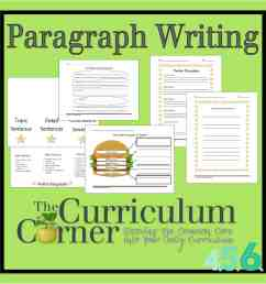 Paragraph Writing - The Curriculum Corner 4-5-6 [ 1500 x 1500 Pixel ]