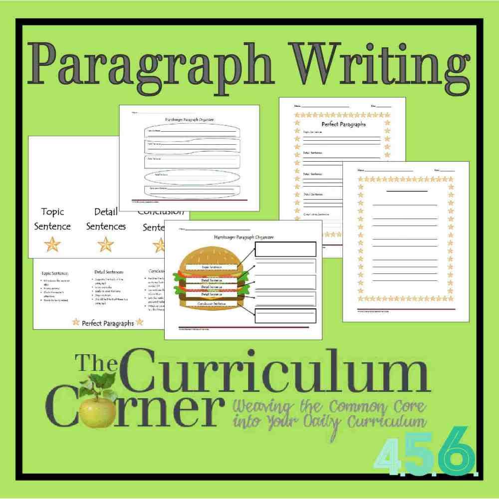 medium resolution of Paragraph Writing - The Curriculum Corner 4-5-6