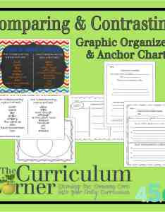 Comparing  contrasting anchor chart and graphic organizers from the curriculum corner free also writing rh thecurriculumcorner