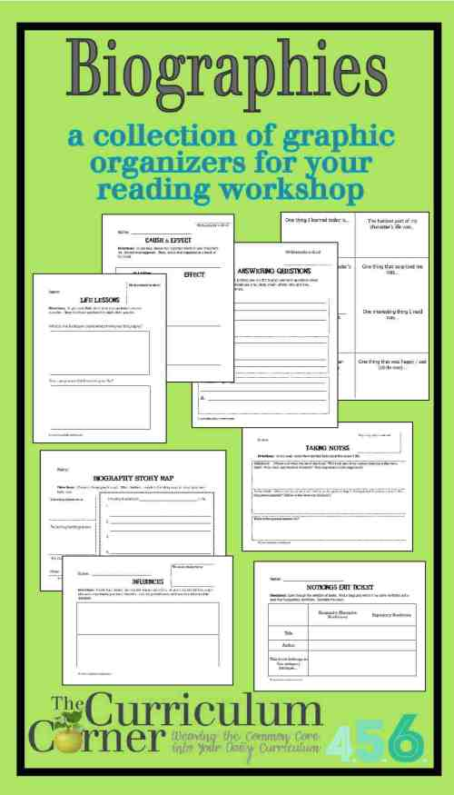 small resolution of Biographies - The Curriculum Corner 4-5-6