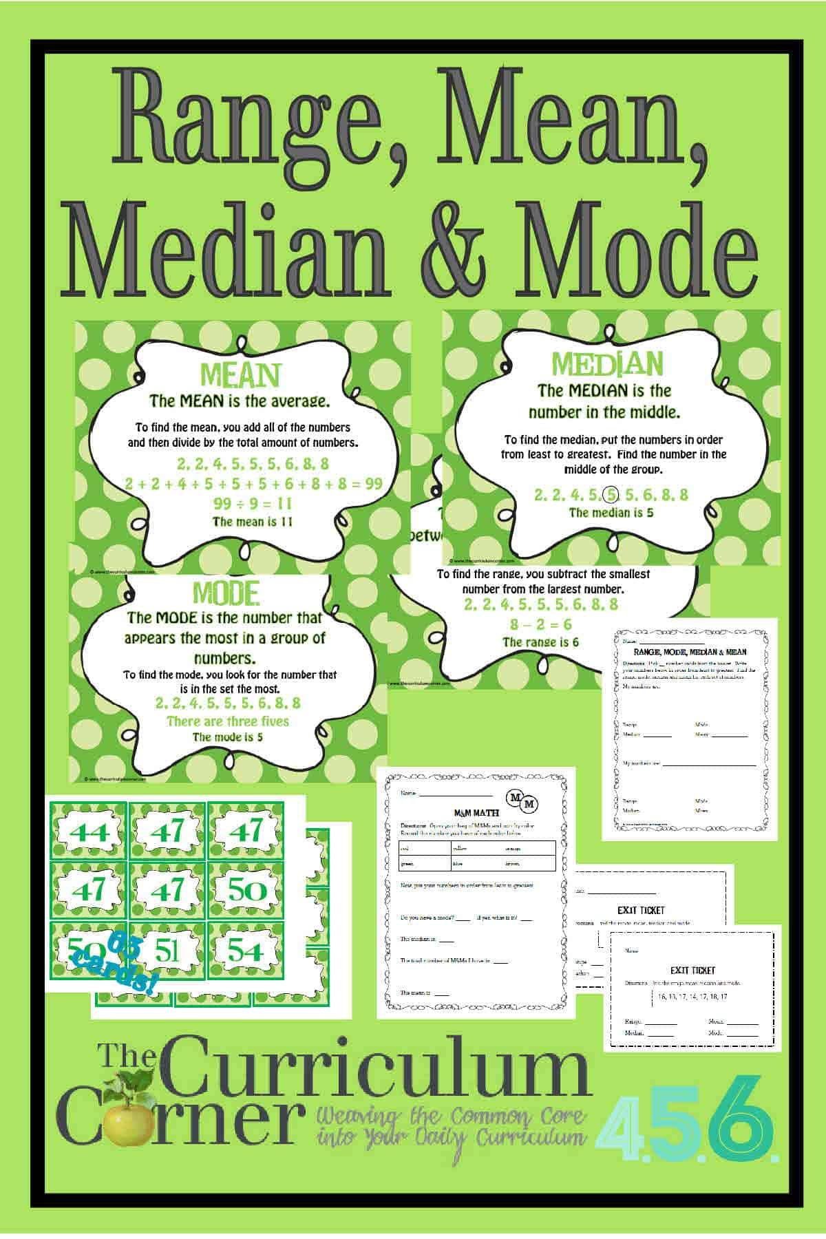 Mean Median Mode Worksheet Sports