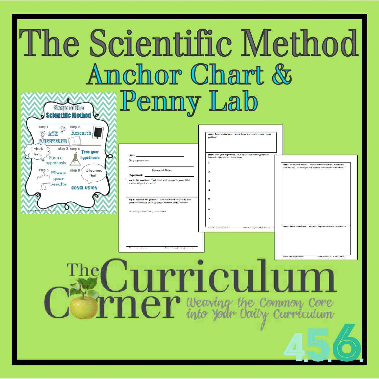 The Scientific Method Anchor Chart Amp Penny Experiment