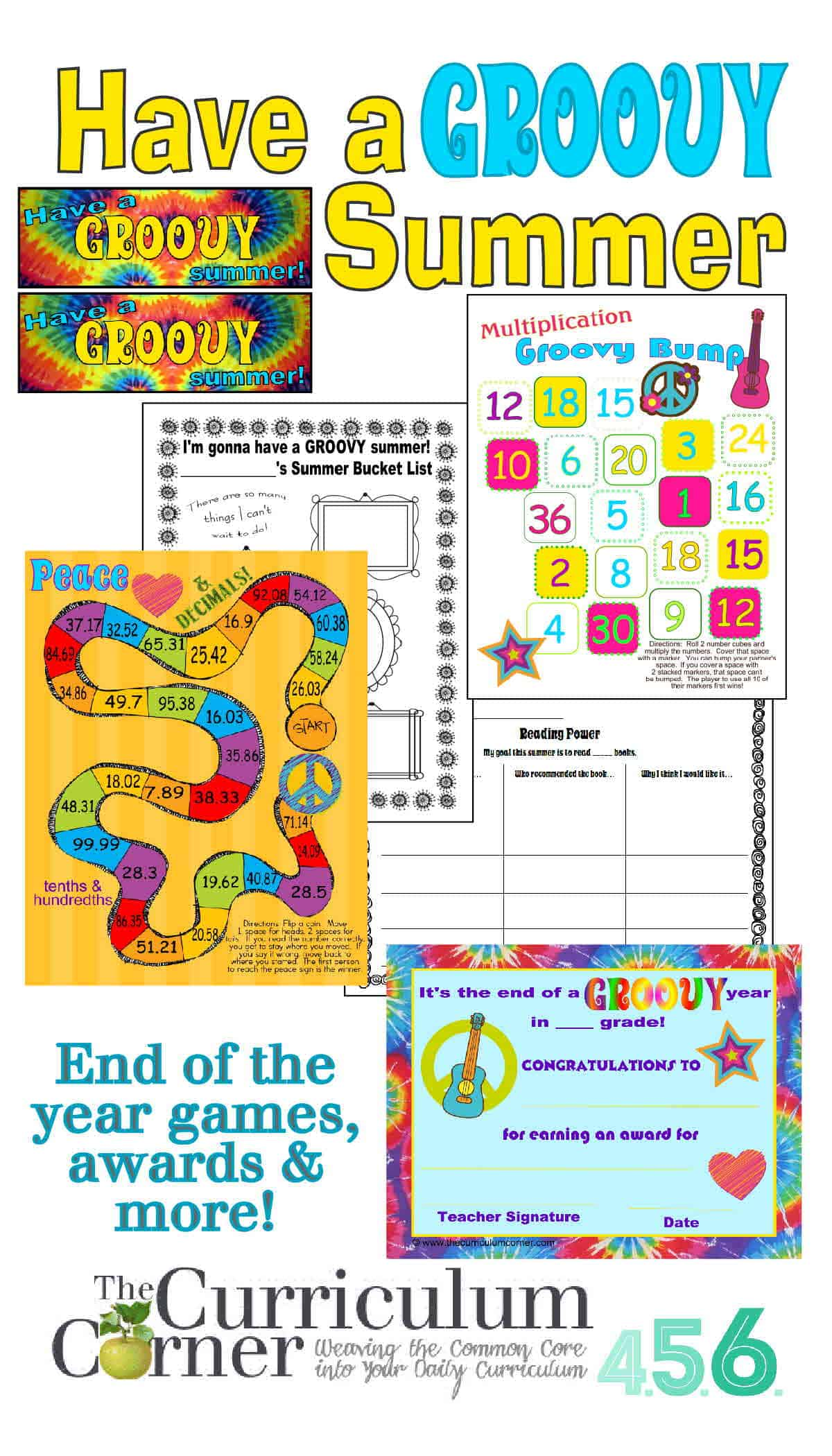 Have A Groovy Summer End Of Year Activities