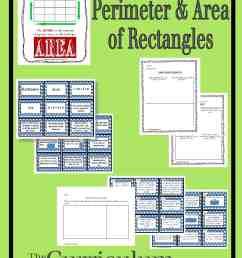 Perimeter and Area of Rectangles - The Curriculum Corner 4-5-6 [ 1800 x 1200 Pixel ]