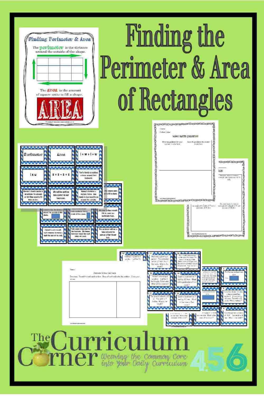 medium resolution of Perimeter and Area of Rectangles - The Curriculum Corner 4-5-6