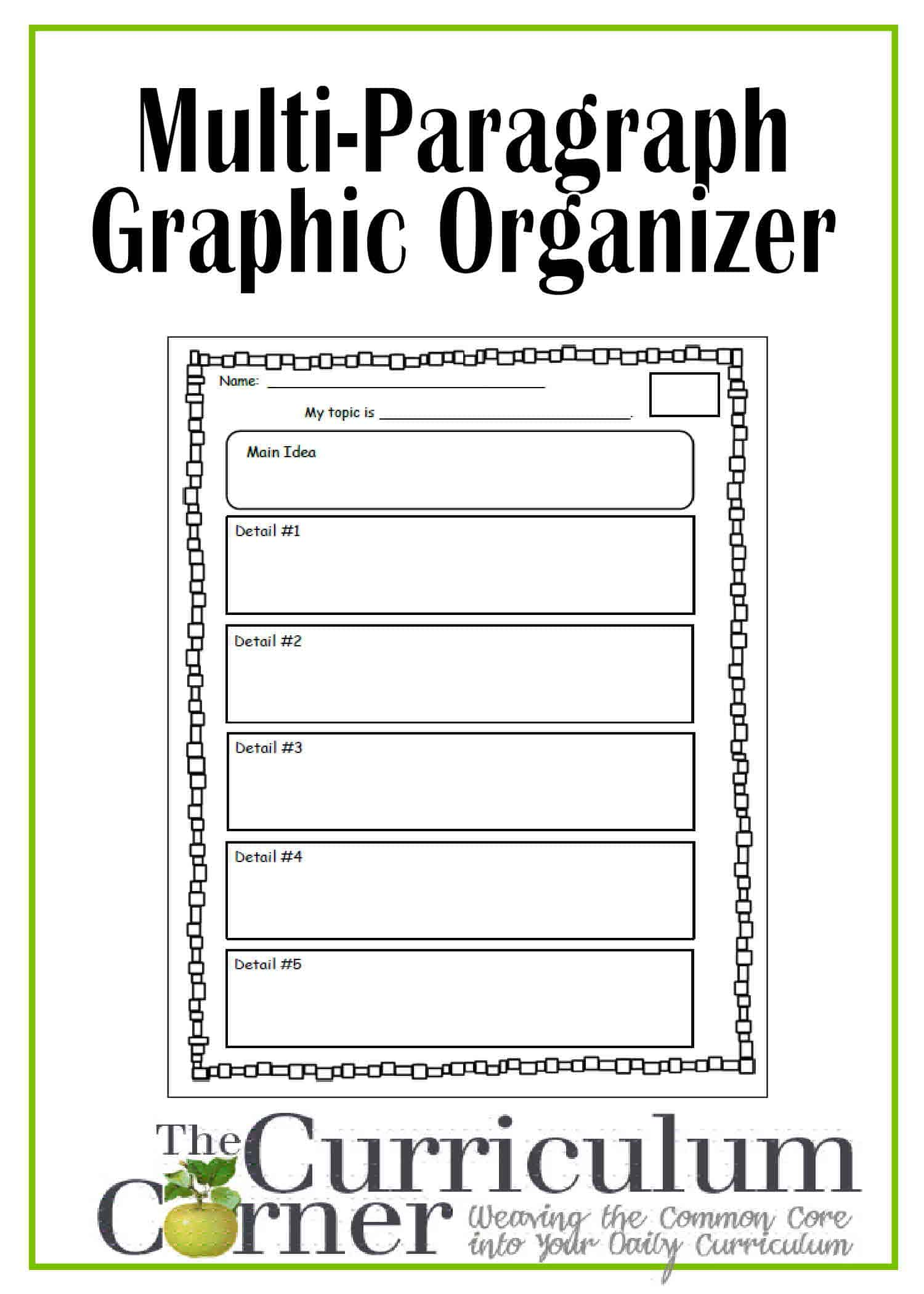 Graphic Organizer For Multi Paragraph Research Papers