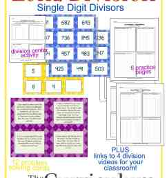 Long Division Resources (1-Digit Divisor) - The Curriculum Corner 4-5-6 [ 2100 x 1500 Pixel ]