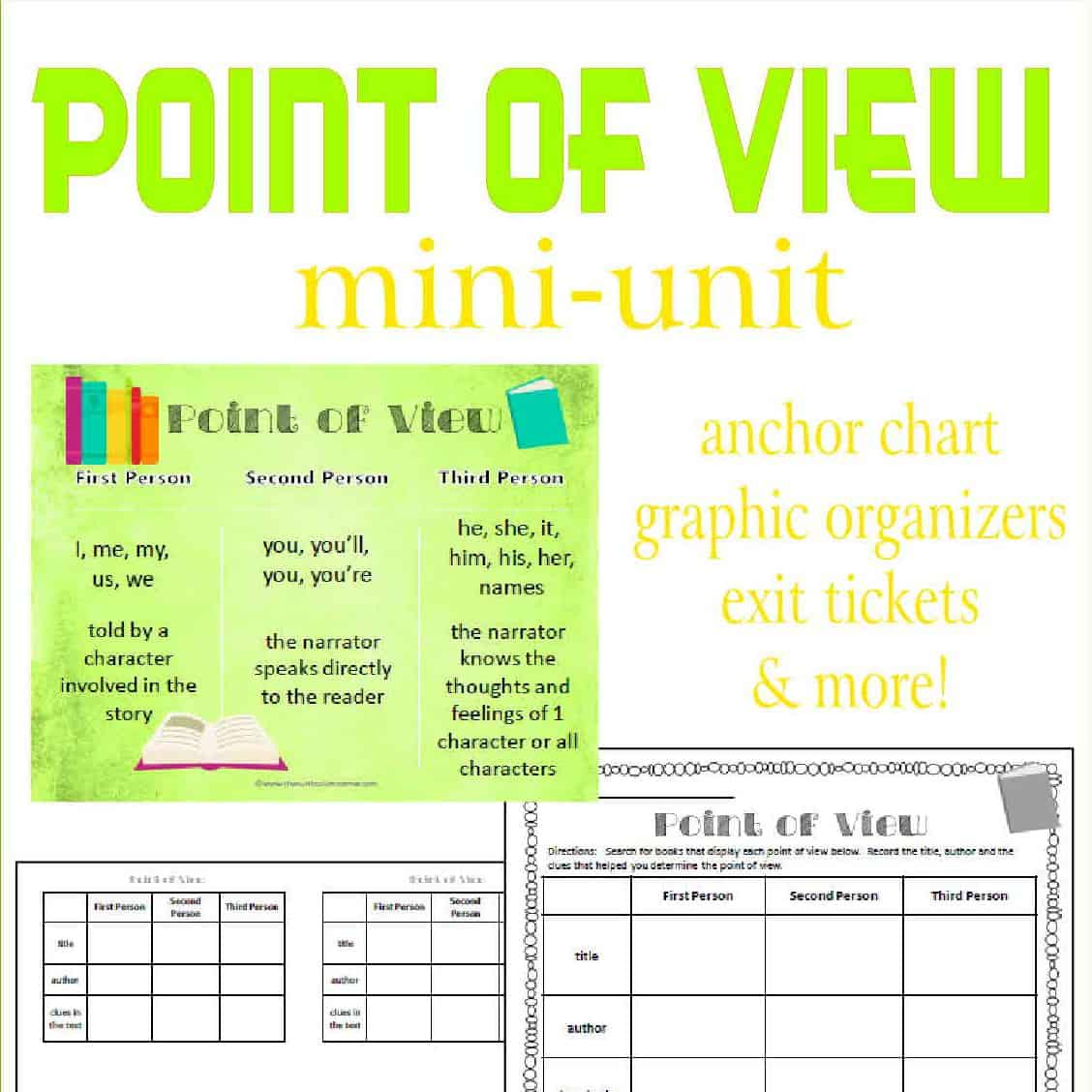 Point Of View Worksheet 4th Grade
