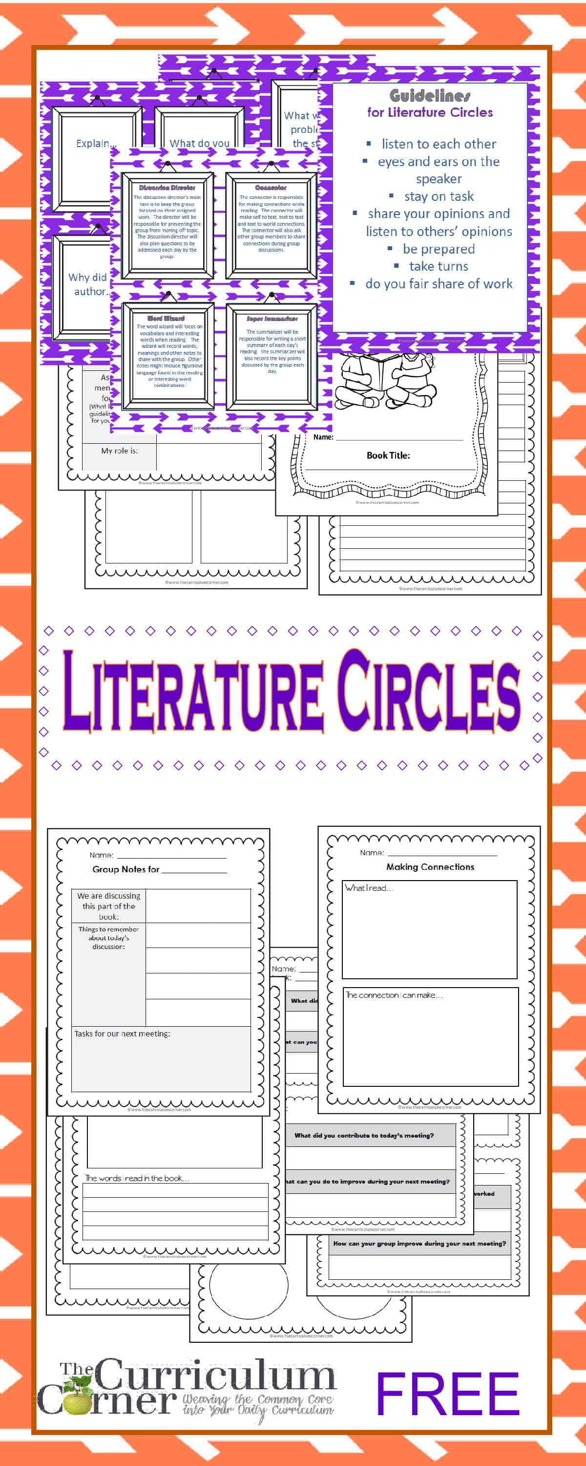 Gett G St Rted With Liter Ture Circles Curriculum C Ner 4 5 6