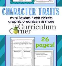 Character Traits Resources - The Curriculum Corner 4-5-6 [ 3600 x 1200 Pixel ]