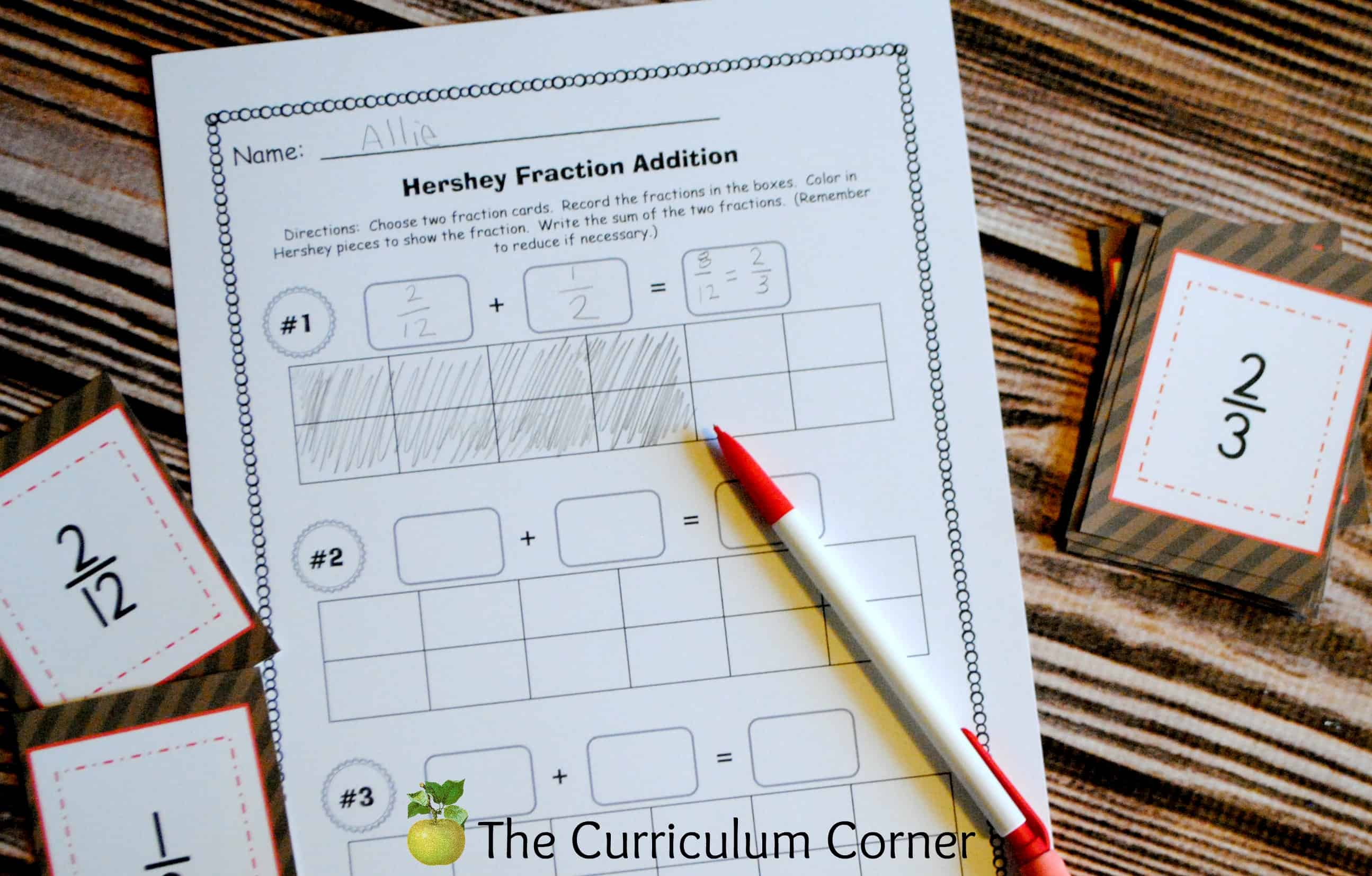 Hershey Bar Math Worksheets