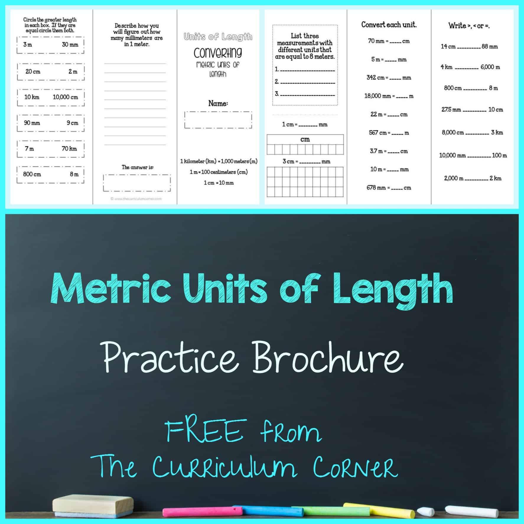 Converting Metric Units Of Length Brochure