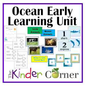 Ocean Early Learning Unit by The Kinder Corner