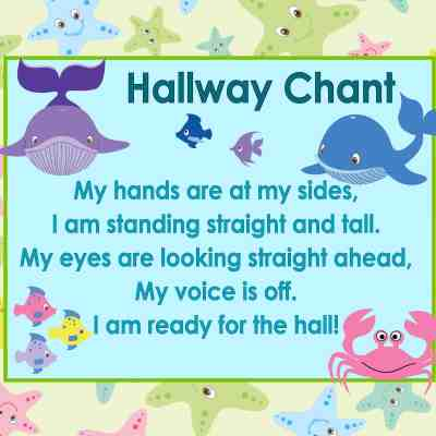 Ocean Themed Hallway Chant Poster