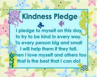 FREE ocean themed kindness pledge poster from www.thecurriculumcorner.com | download as an 8 x 10 or 11 x 14