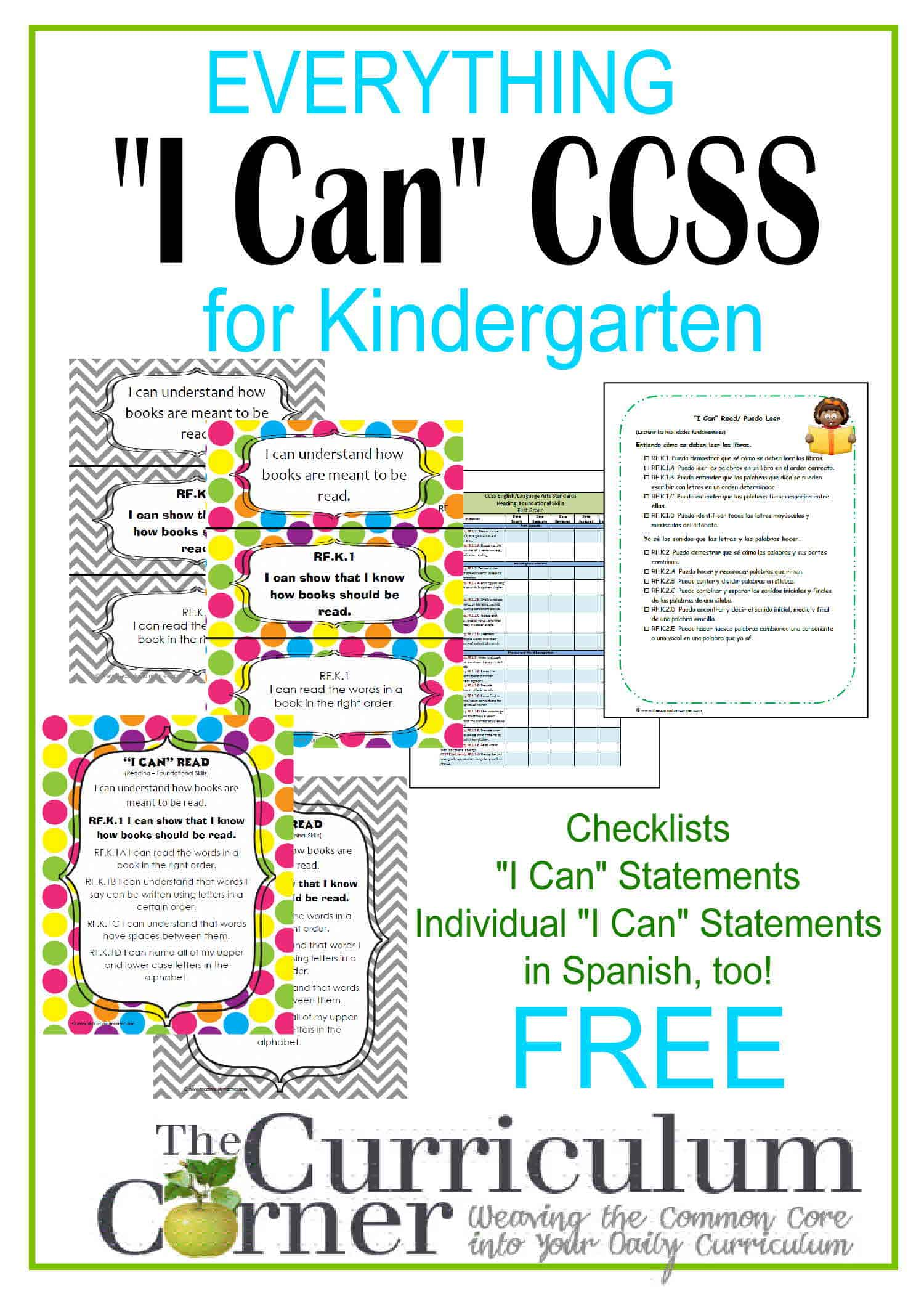 "Everything ""I Can"" Common Core for Kindergarten - The ..."