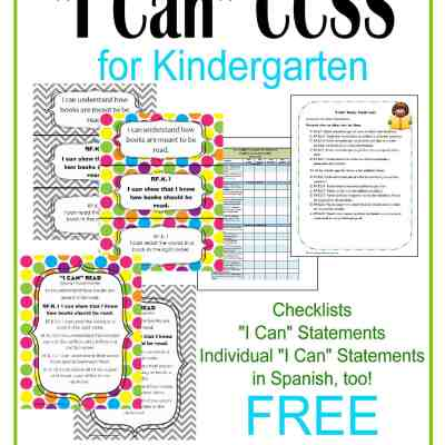 """Everything """"I Can"""" Common Core for Kindergarten"""