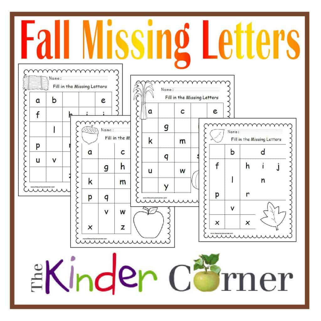 Fall Missing Letters Practice Pages