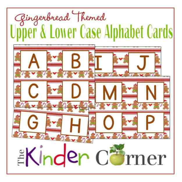 Upper & Lowercase Letters Alphabet Matching Cards from The Curriculum Corner FREE