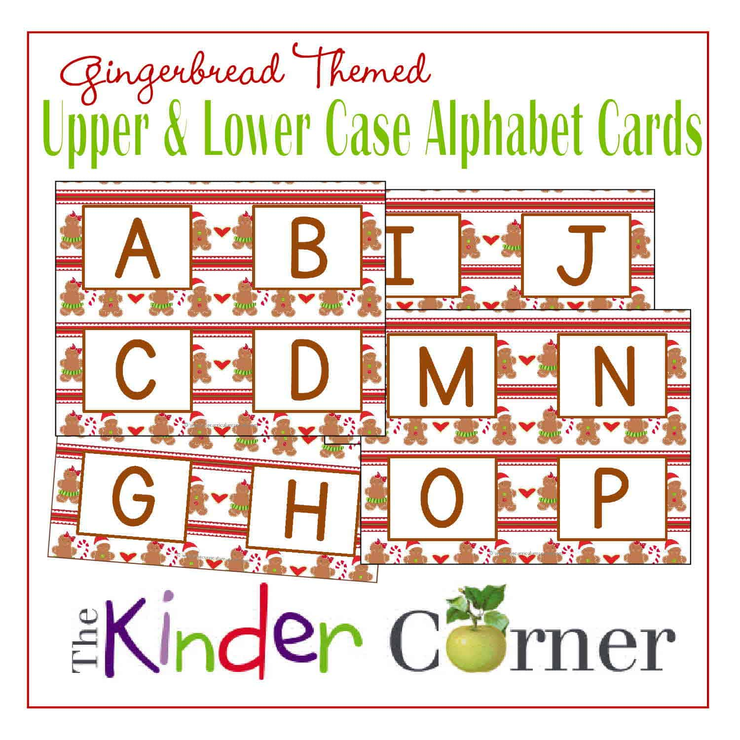 Gingerbread Themed Upper Amp Lowercase Letter Cards