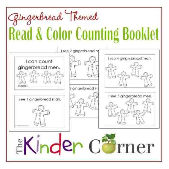 Gingerbread Men Read & Color Counting Booklet FREE from The Curriculum Corner