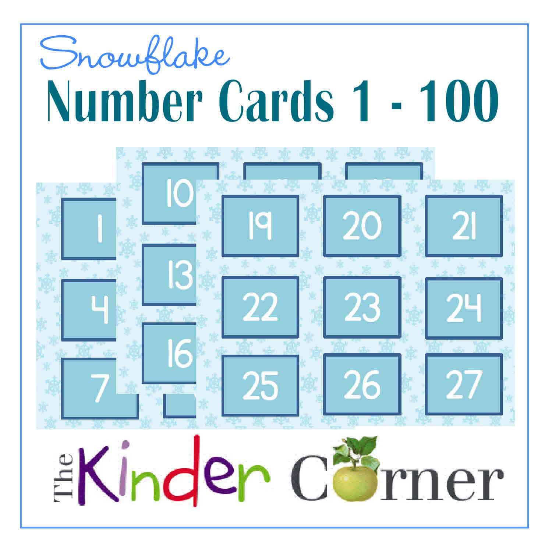 Winter Number Cards | 1 - 100 - The Kinder Corner
