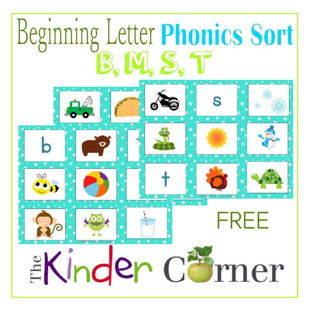 Beginning Letter Phonics Sort
