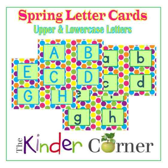 Rainbow Polka Dot Letter Cards - Alphabet Matching Cards from The Curriculum Corner FREE