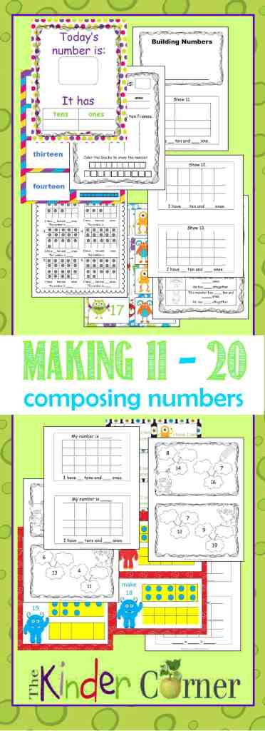 Making 11 through 20  Using 10 Frames with a Monster Theme | FREE from The Curriculum Corner | TONS of resources in one spot!